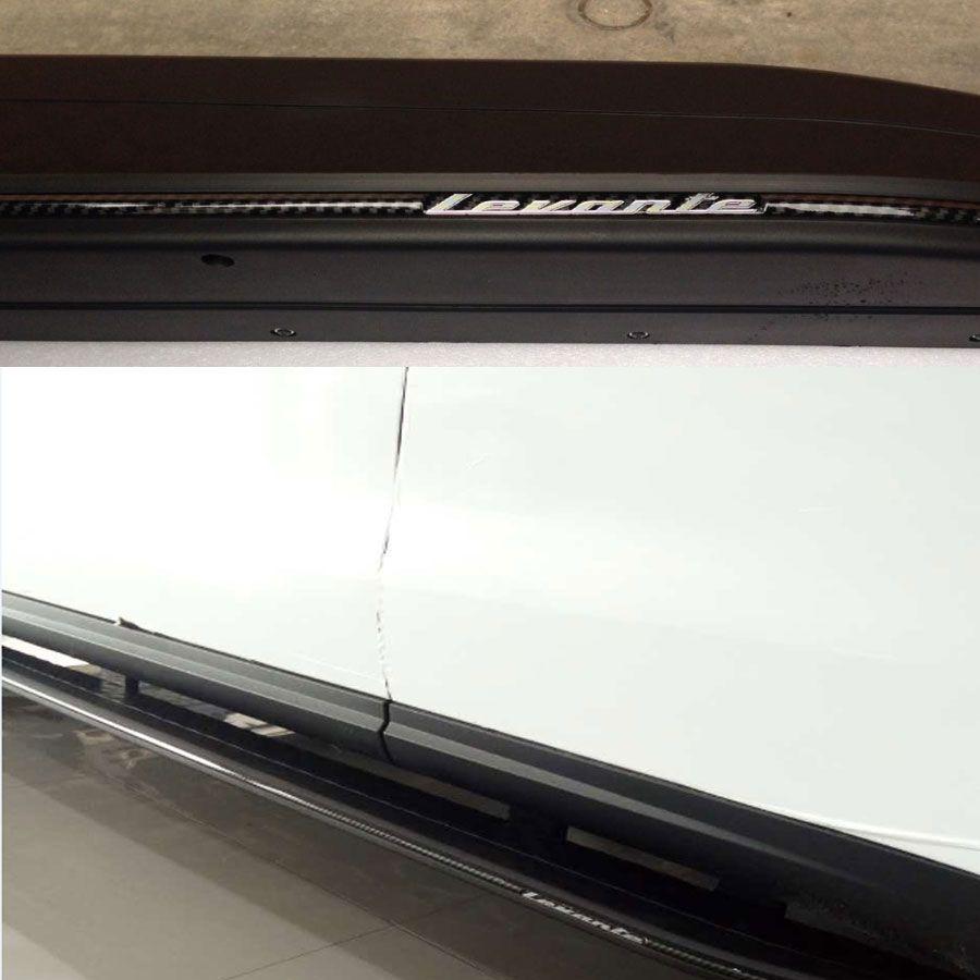Seite Rock Trim Tür trittbrett für Maserati Levante 2016up ABS Material mit Kohlefaser
