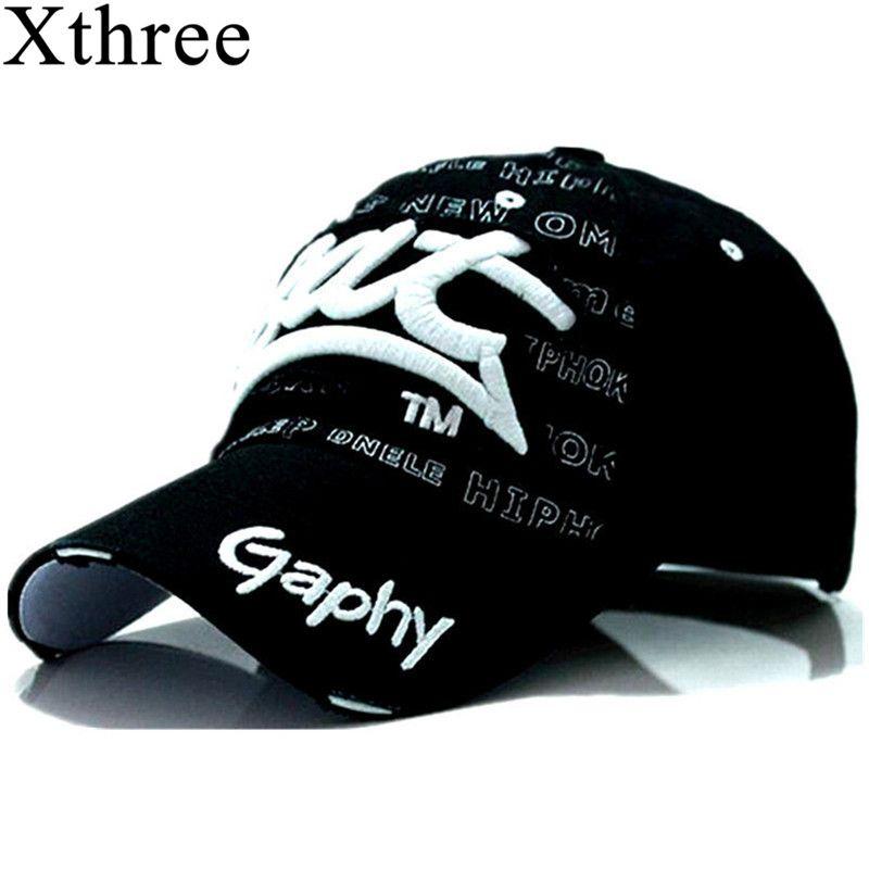Xthree großhandel hysteresenhüte baseballmütze hüte hip hop einbau billige hüte für männer frauen gorras gebogene krempe hüte Schäden kappe