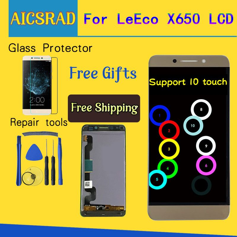 Display For LeTV LeEco Le Pro 3 X650 LCD Touch Screen Leeco X651 X656 X658 X659 Digitizer Replacement Parts 5.5'' 1920x1080