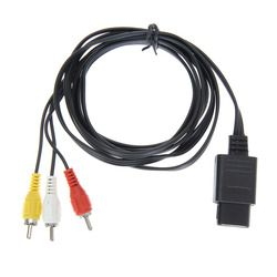 1 pcs 1.8 m 6FT AV TV RCA Vidéo Cordon Câble pour SNES GameCube pour Nintendo N64 64 Jeu Câble pour SFC et 2 Sortie Audio connecteurs