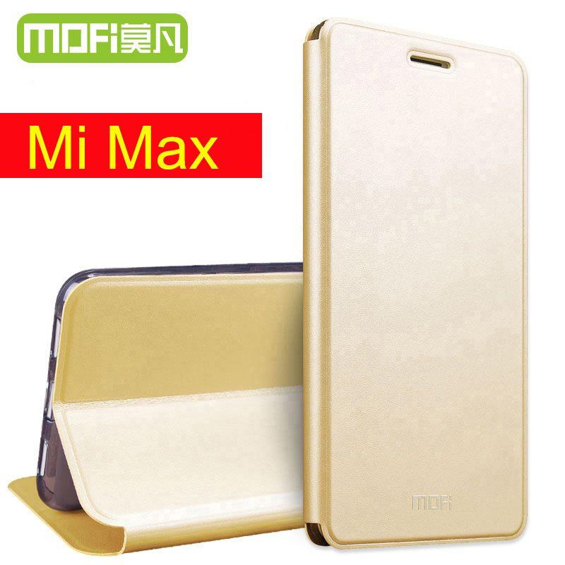 Xiaomi mi max cas Mofi 64 gb flip en cuir couverture 32 gb funda xiaomi mi max couverture silicone flip couverture 6.44 coque xiaomi mimax cas