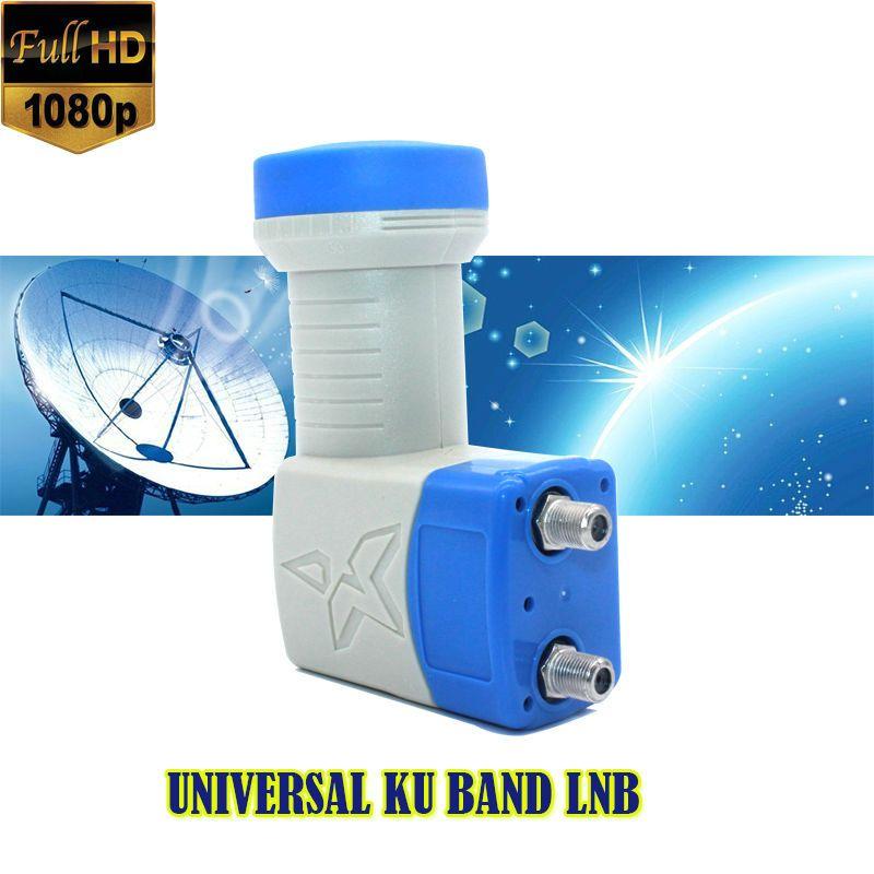 Universal Ku Band Twin LNB High Gain Low Noise 0.1db universal lnb full hd digital ku band twin lnb for satellite tv dvbs2 lnb