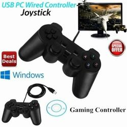 Gasky USB Wired Game Controller Gamepad Gaming Joypad Joystick Control for XP Windows PC Computer Laptop Black freeshipping