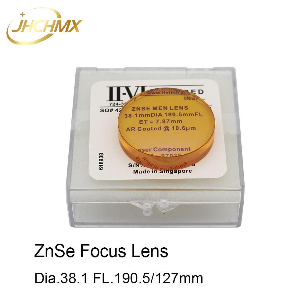 JHCHMX Co2 Fokus Objektiv USA CVD ZnSe Dia.38.1mm 1,5 FL.190.5/127mm 5/7,5 Für high Power Co2 Laser Gravur Schneiden Maschine
