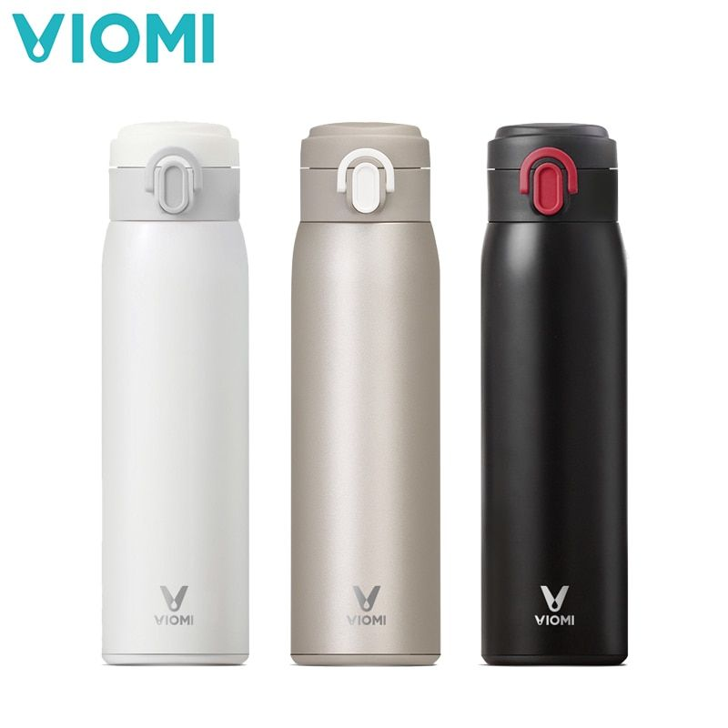 Xiaomi Viomi 460ml Vacuum Insulated Mug Stainless Steel Thermos Water Bottle Leakproof Flask Cup Smart Single Hand Control
