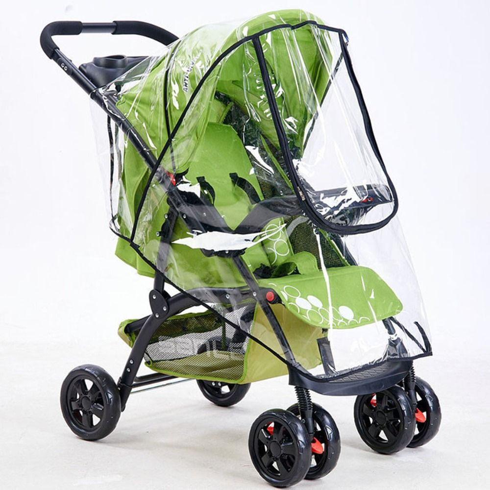 Portable Stroller Rain Cover PVC Universal Waterproof Dust Wind Shield For Most Baby Kids Newborn Infant Pushchairs Accessories