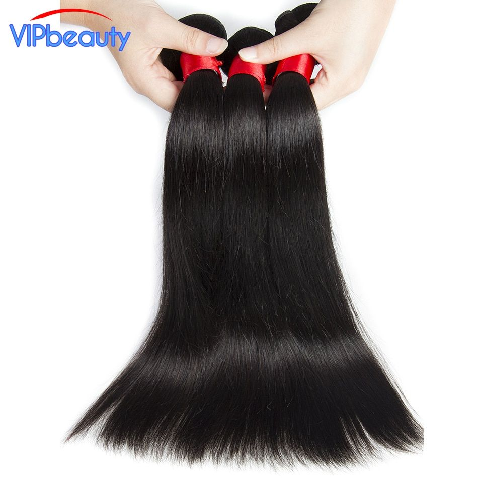 VIP beauty Peruvian straight remy hair extension 100% human hair weave 3 or 4 bundles/lot natural color 1b