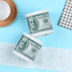 1 Roll 2 Ply Novelty Funny 100 Dollar Money Printed WC Bath Funny Toilet Paper Tissue Bathroom Supplies Jag Gift