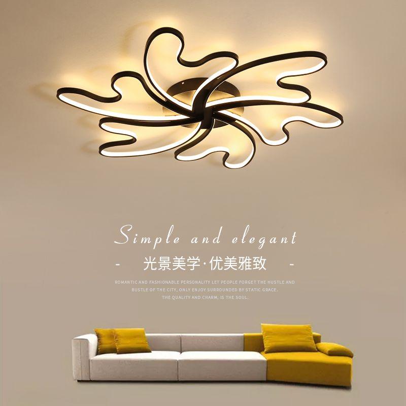 Lican lustre de plafond moderne Modern Wave Ceiling Lights LED Lamp for living room bedroom luminaire plafonnier Ceiling Lamp