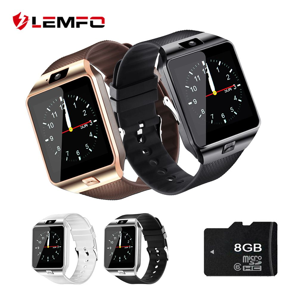 LEMFO Smart Watch Passometer DZ09 Support SIM TF Card Watches Phone DZ09 Smart Watch DZ 09 with Battery Strap