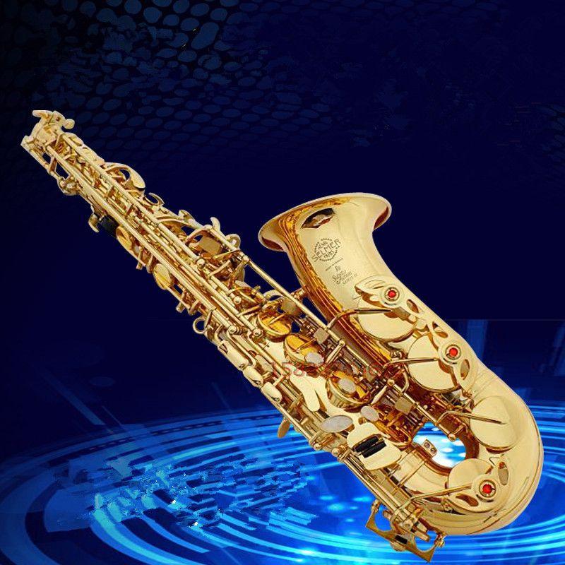Saxophon Alto instrument Hohe qualität Frankreich SAS-802 neue Goldene Saxophon instrument Echt bild weg die geschenk ist versendet Sax