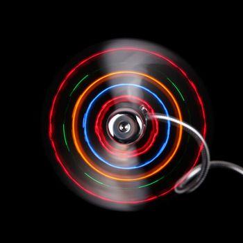 Flexible USB LED Fan Clock Fan Gadget Cool Desktop Clock Fan Mini USB Fan Gooseneck Clock With LED Light For PC Laptop