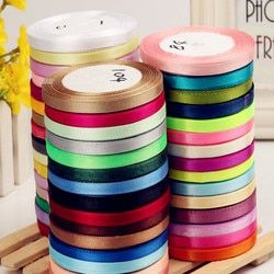 6mm Width Colorful Bow Ribbons braided hair ribbon Wedding Party Decoration Gift Craft Sewing art Fabric Tape DIY  -25  Yard/Pcs