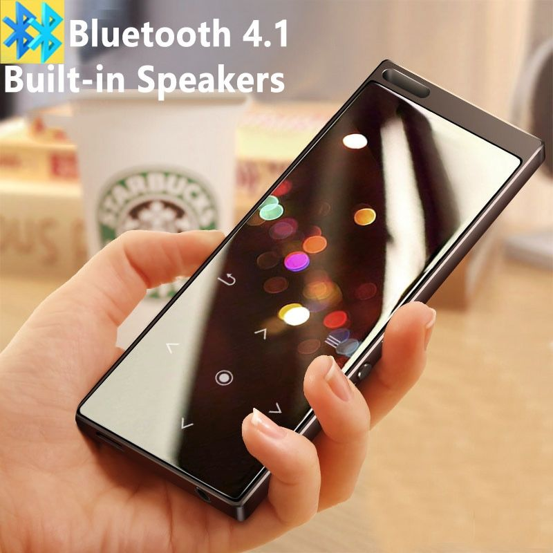 2018 New Arrival All Metal Touch Button HIFI Bluetooth MP3 Music Player Built-in Speaker 16G High Quality Lossless Sound with FM