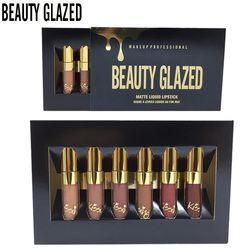 6Pcs/Lot Matte Lipsticks Does Not Faded Liquid Lip Gloss Moisturizer Birthday Edition Lipgloss Lipstick Lip Makeup Maquiagem