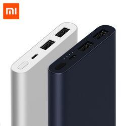 Original Xiaomi banco de energía 10000mAh 2  Soporte de batería externa portátil 18W Carga rápida para teléfonos móviles Samsung Iphone tablets