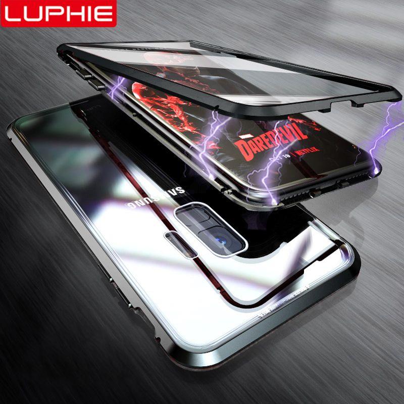 LUPHIE 360 étui pour samsung Galaxy S9 S8 Plus Note 9 étui pour samsung Note 8 9 étui pour aimant