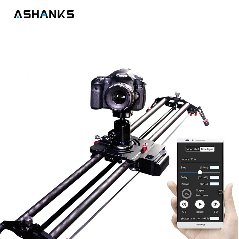 Bluetooth Carbon Camera Slide Follow Focus Motorized Electric Control Delay Dolly Slider Track Rail for Timelapse Photography