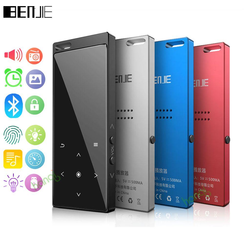 Neue Original Benjie Bluetooth MP3 Player Portable Audio 8 gb mit Eingebauter Lautsprecher Musik Player Recorder FM Radio Unterstützung TF karte