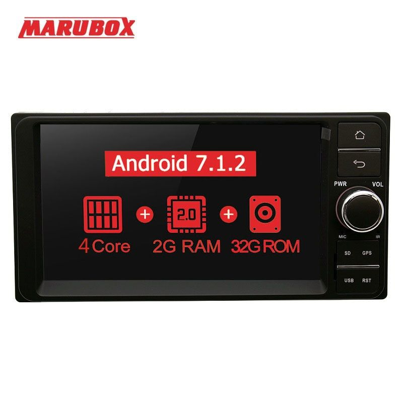 Marubox 7A701MT3 Car Multimedia Player Universal For Toyota Android 7.1 Car Auto Radio Quad Core 1024*600 HD 7
