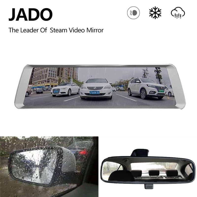 JADO D820S Car Dvr Steam Rearview Mirror Camera 10 IPS Touch Screen Full HD 1080P Car Dvrs Registrar Video Recorder Dash cam