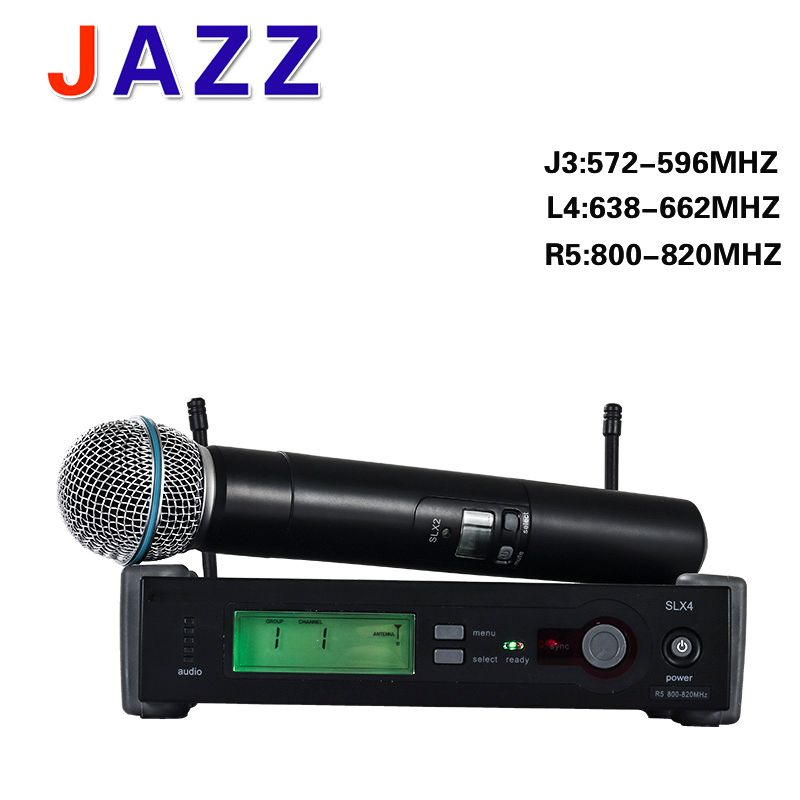 High-quality UHF mic SLX24 beta58A Wireless system Karaoke Microphone Stage KTV DJ Professional wireless microphone