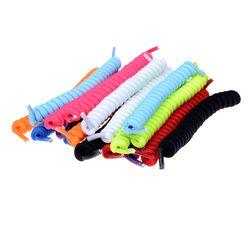 1 Paire Bouclés Lacets Élastiques Sans Cravate Formateur Enfants Lacets Couleurs pour Childs et Adultes Meilleur dans le Sport Plat Lacet Chaud Vente