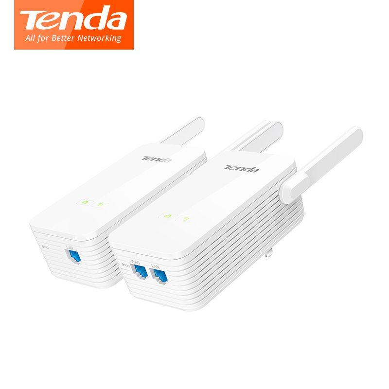 1 Pair Tenda PH15 Powerline Adapter 1000Mbps Gigabit PLC Modem Homeplug wifi Router 2*Antennas Network Powerline Adapter