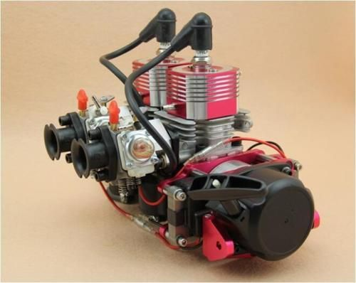 58CC engine Two cylinders fit rc boat parts