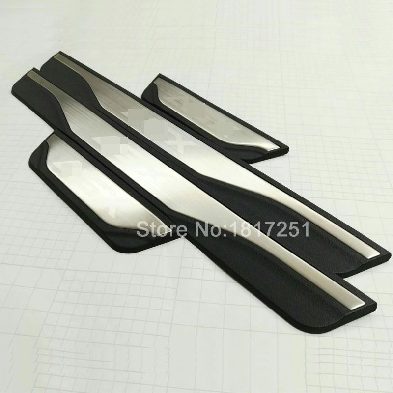 High quality stainless steel scuff plate door sill for mitsubishi asx accessories 2011 2012 2013 2014 2015 2016 2017