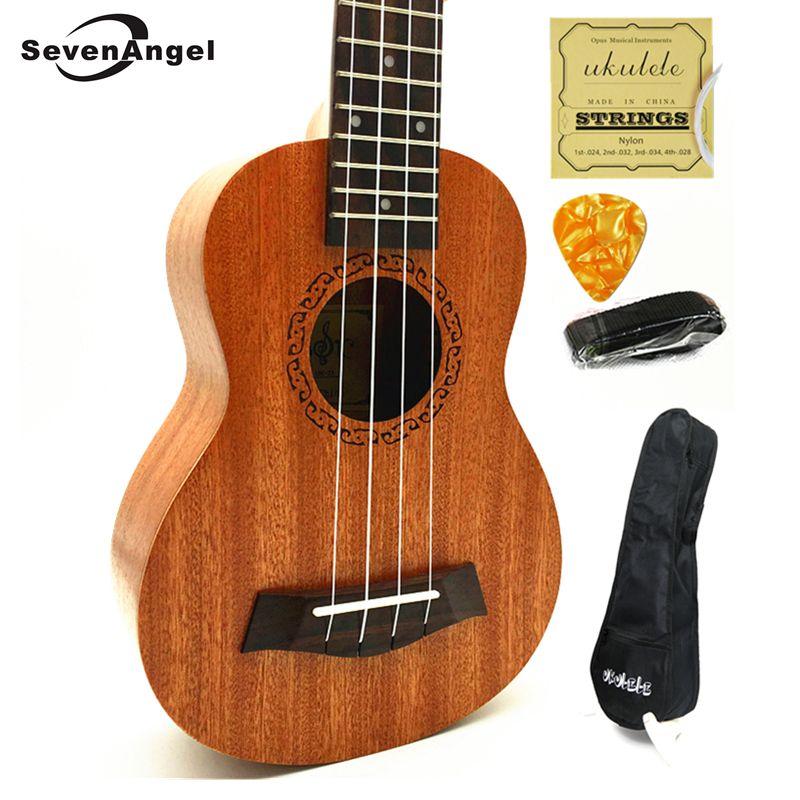 Sevenangel Ukuleles concierto soprano tenor ukelele acústico Guitarras ukelele eléctrico Guitarras ra instrumentos de cuerda W-/recoger EQ