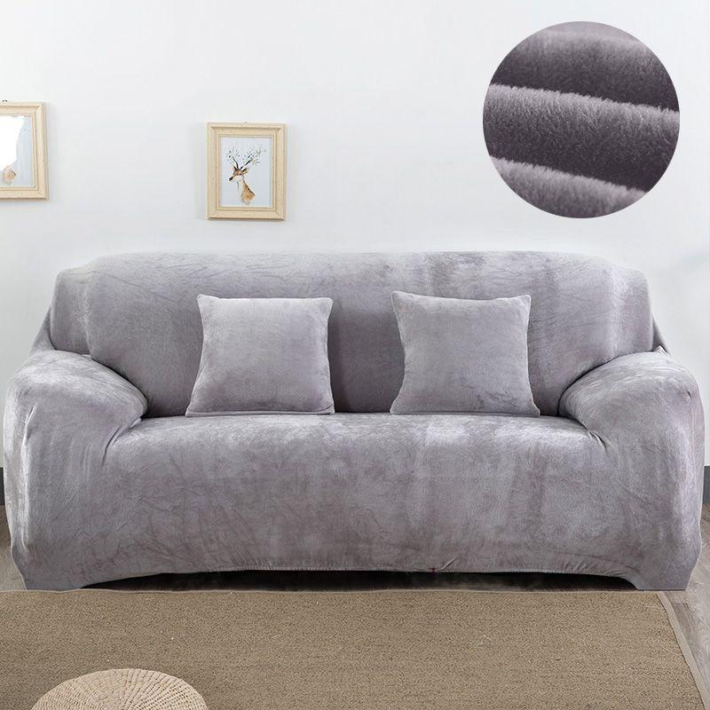 Housse de canapé en tissu peluche 1/2/3/4 places housse de canapé épaisse sofacovers élastique élastique bon marché housse de canapé couverture de serviette enroulée
