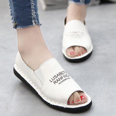 2018 Nouveau Mode pop Molle Féminine Semelle Mocassins Casual cuir synthétique Chaussures Plates Paresseux Femmes Sandales Livraison Gratuite
