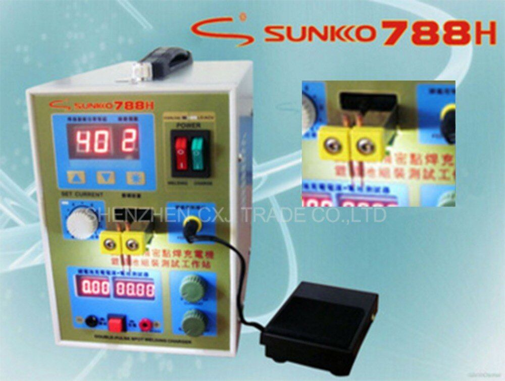 Free Shipping LED Pulse Battery Spot Welder 788H Welding Machine Micro-computer 18650 Battery