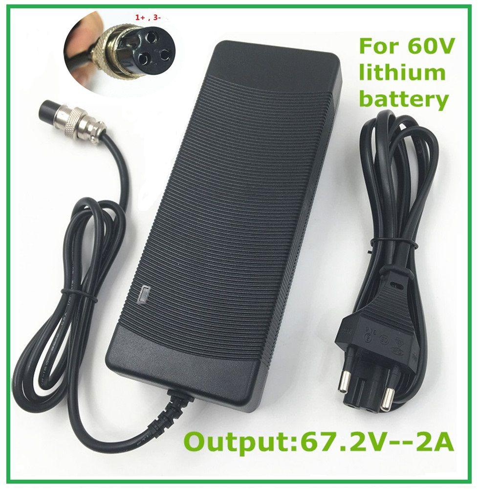 67.2V2A 67.2 V 2A li-ion chargeur de batterie pour Brouette Électrique auto équilibrage monocycle scooter XLRF XLR 3 chargeur Freeshipp
