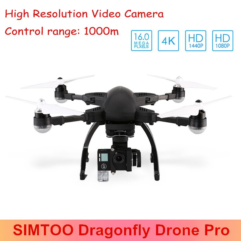 SIMTOO Dragonfly Drone Pro RTF WiFi FPV 16MP 4K Camera 2.4GHz 8CH Voice Control GPS Foldable Following Camera Drone