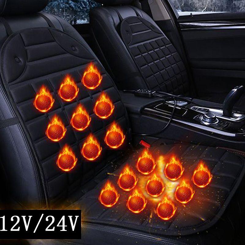 2018 unique/paire 12 v électrique coussins chauffants pour le chauffage en hiver coussin de siège de voiture, garder au chaud couverture de siège de voiture qualité garantie
