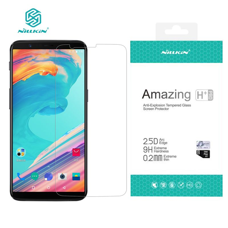 6.01 inch one plus 5t Screen Protector NILLKIN Amazing H+PRO Tempered Glass For oneplus 5t screen protector ONE PLUS 5 T Glass