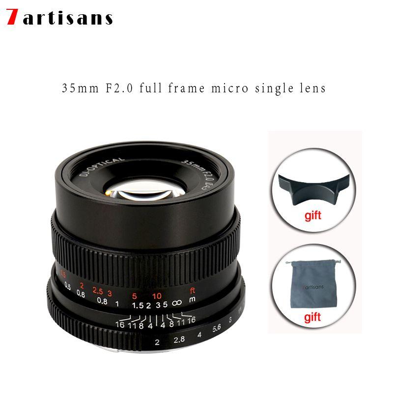 7 handwerker 35mm f2.0 Prime Objektiv Alle Einzelnen Serie für E-mount FX-mount Kameras A7 a7II A7R A7RII A7S A6500 X-A10 X-A2 X-A3