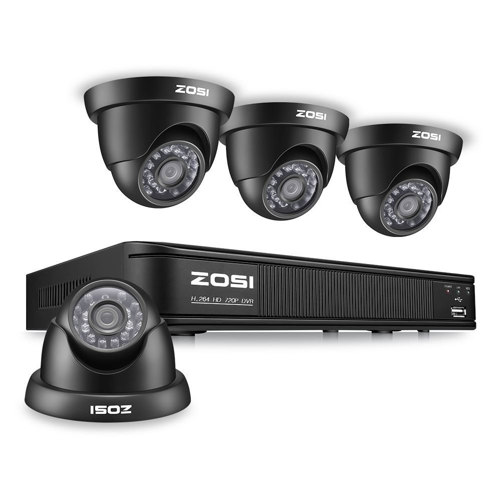 ZOSI 8CH CCTV System 8CH Network TVI DVR 4PCS 1280TVL IR Weatherproof Home Security Camera System Surveillance Kits