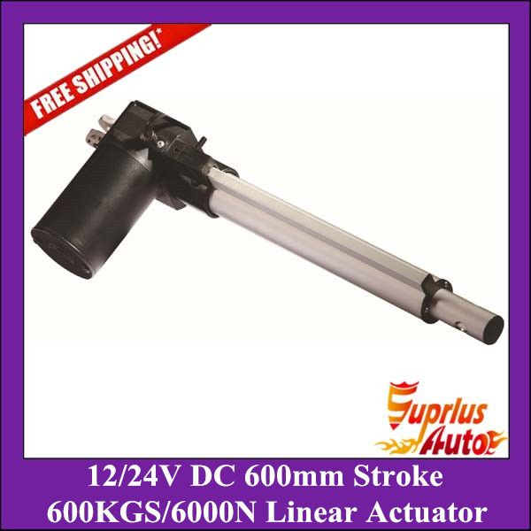 New Arrivals!! 6000N/600kgs load heavy duty linear actuator, DC 12V/24V 24inch/600mm stroke 5mm/s linear actuators