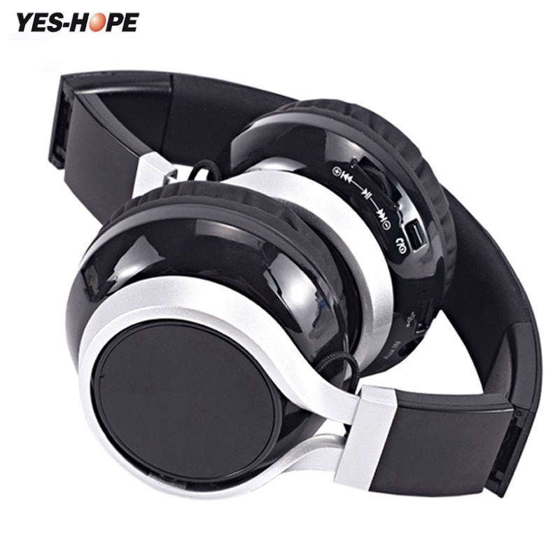YES-HOPE Wireless Headphones Bluetooth Headset Stereo foldable Sport Earphone Microphone Gaming Cordless Auriculares Audifonos