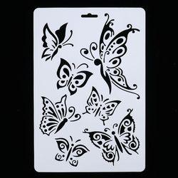 BRICOLAGE Artisanat Papillon Superposition Pochoirs Pour Murs Peinture Scrapbooking Stamping Timbres Album Décoratif Gaufrage Papier Cartes