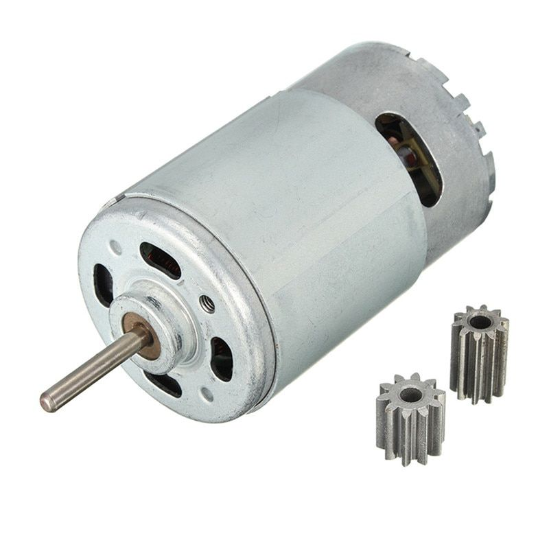 DC Motor 12V 30000 RPM for Children Electric Car,RC Ride, Baby Car Electric Motor RS550 Gearbox 10 teeth Engine Hot Sale
