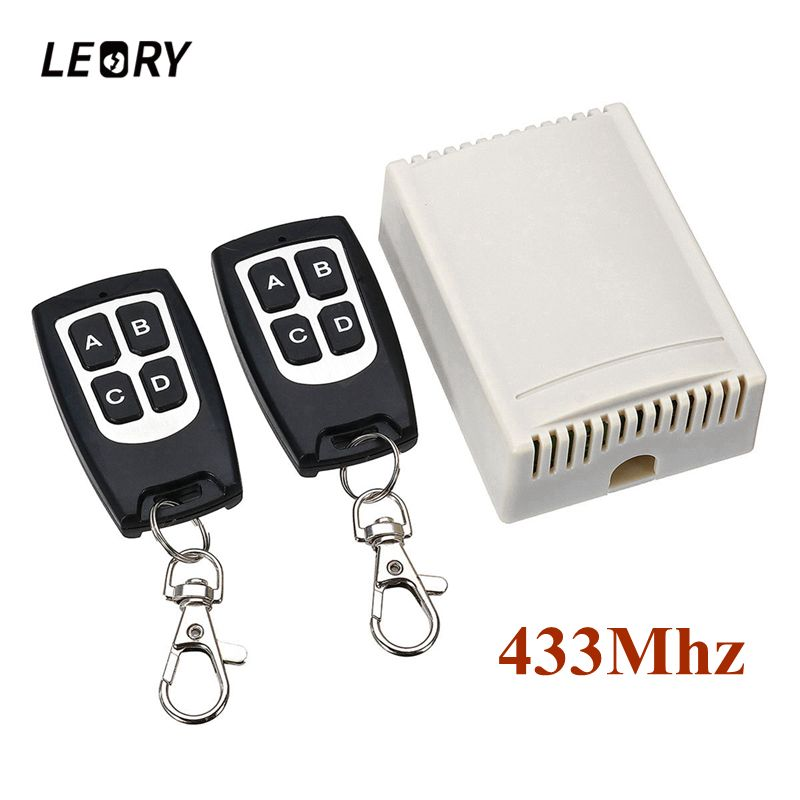 LEORY Wireless Remote Control 12V 4CH Channel 433Mhz Switch Integrated Circuit With 2 Transmitter DIY Replace Parts Tool Kit
