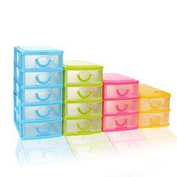 Plástico Durable Mini escritorio cajón misceláneas del caso objetos pequeños divisores extraíbles ahorro de espacio de vestir Organizador # M