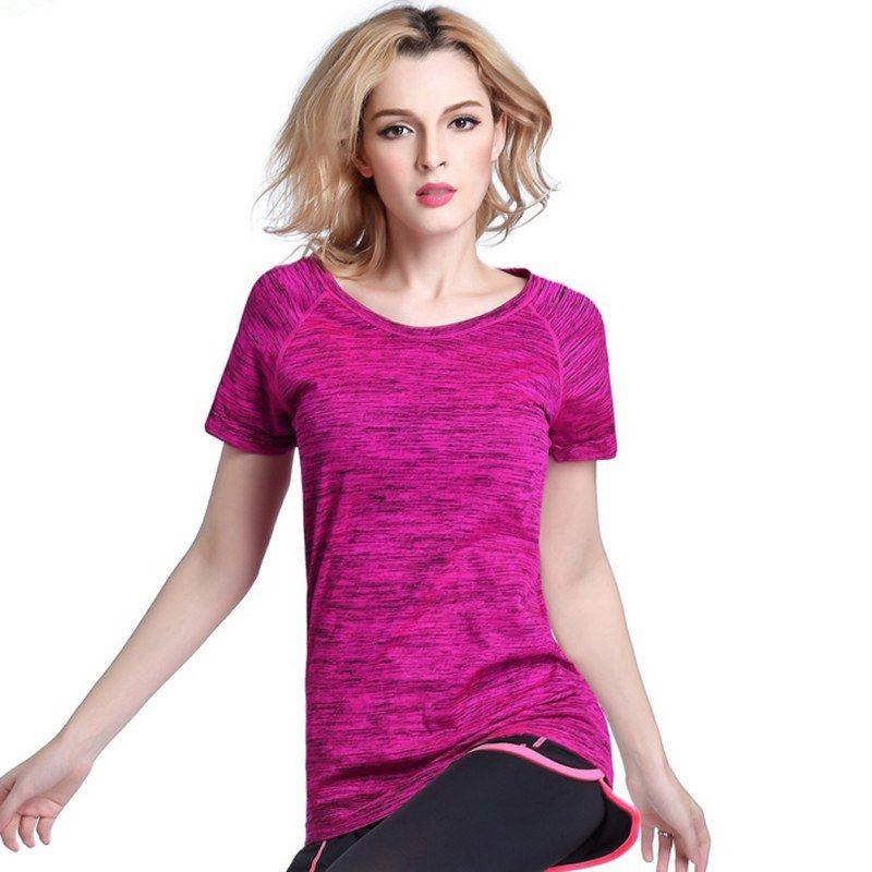 Quick dry professionelle frauen sport t-shirt für yoga fitness laufen jogging schweiß atmungs übungen kurzarm tops
