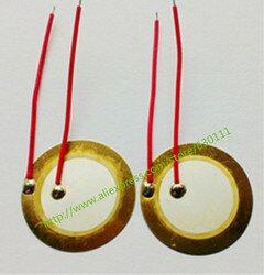 10PCS/LOT ,35mm Piezo Ceramic Element with cable length