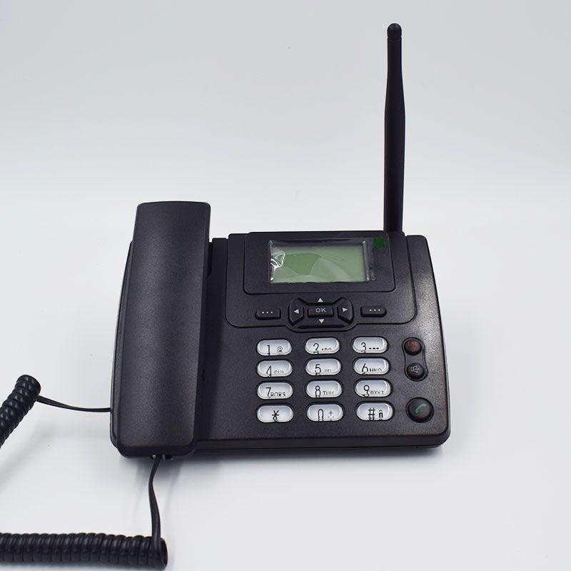 GSM 900/1800 MHz Unterstützung Sim-karte Festnetztelefon Mit FM Radio Anruf-id Handfree Festnetztelefon Fixed Wireless telefon Hause Schwarz
