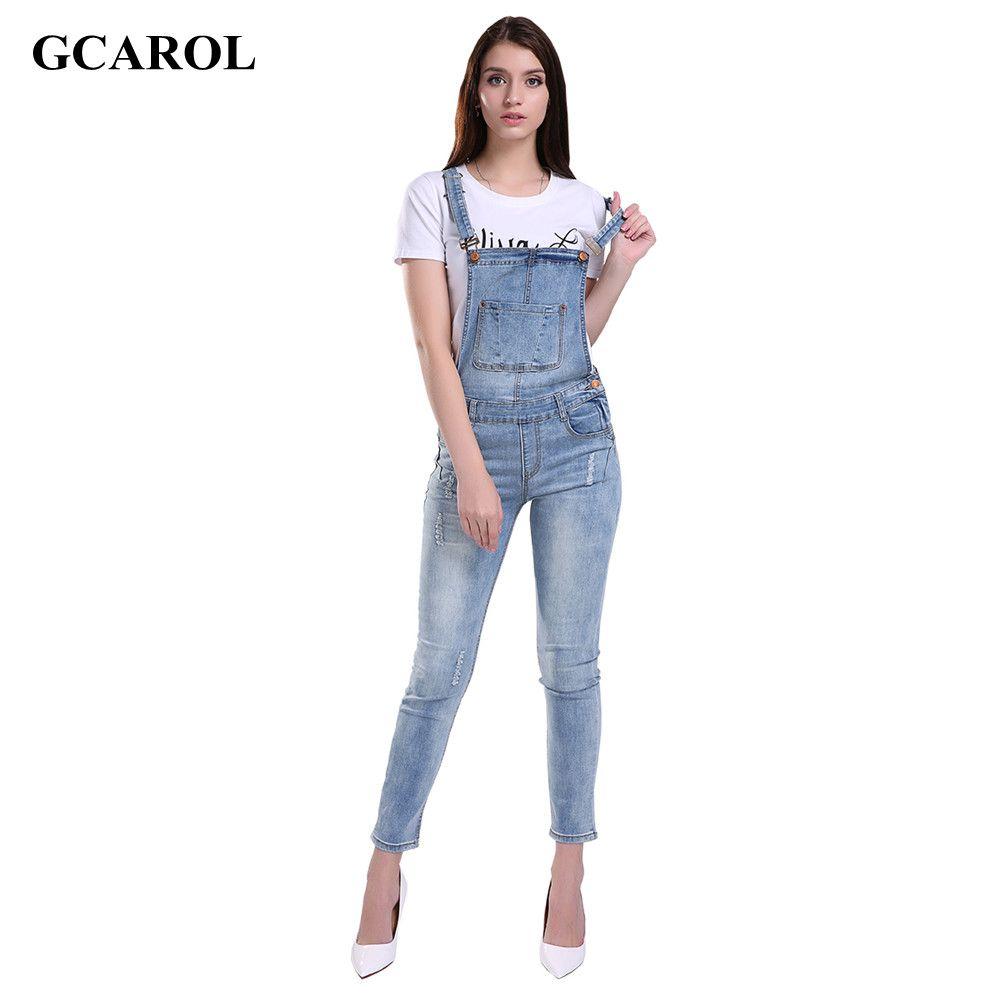 Женщины разорвал отверстие джинсовые комбинезоны дамы секси стройная свободного покроя ползунки плюс сиз 42 джинсовой карандаш комбинезон...